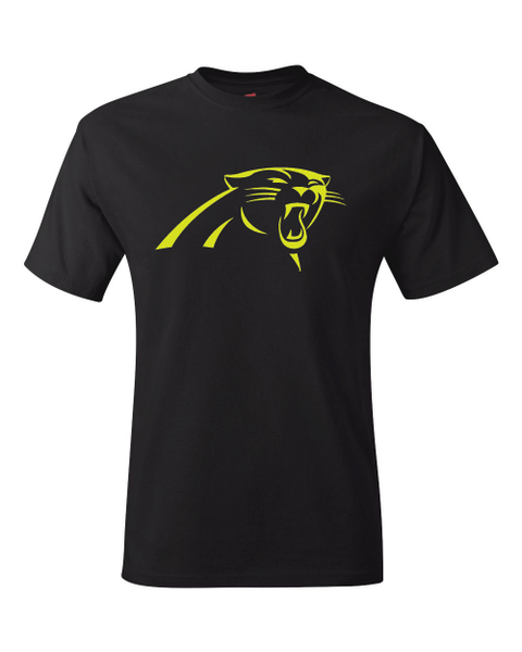Carolina Panthers Logo Black Performance Dri-Fit Logo Tee
