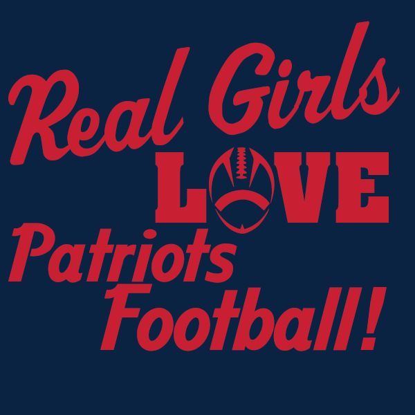 Real Girls Love New England Patriots Football Women's V-Neck T-Shirt