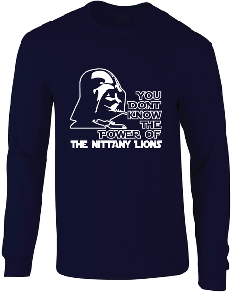 Penn State Nittany Lions Darth Vader Star Wars Style Long Sleeve T-Shirt