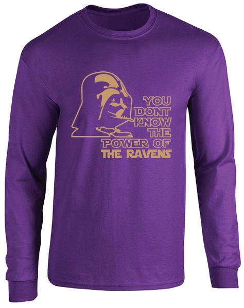 Baltimore Ravens Darth Vader Star Wars Style Long Sleeve T-Shirt