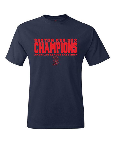 Boston Red Sox 2017 American League East Division Champions T-Shirt
