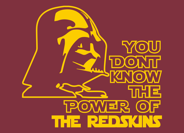 Washington Redskins Darth Vader Star Wars Style T-Shirt
