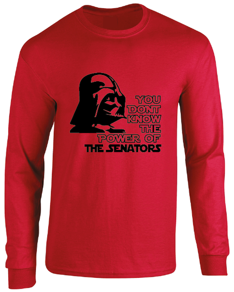 Ottawa Senators Darth Vader Star Wars Style Long Sleeve T-Shirt