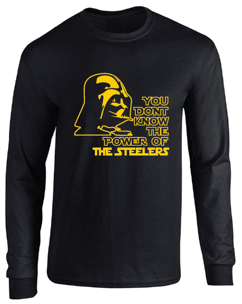 Pittsburgh Steelers Darth Vader Star Wars Style Long Sleeve T-Shirt