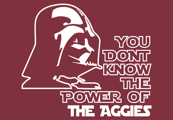 Texas A&M Aggies Darth Vader Star Wars Style Long Sleeve T-Shirt