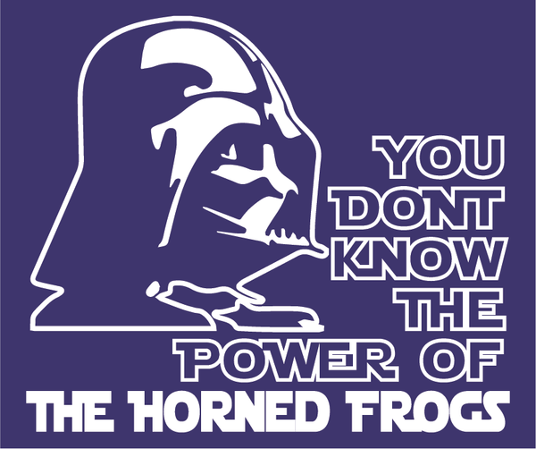TCU Horned Frogs Darth Vader Star Wars Style T-Shirt