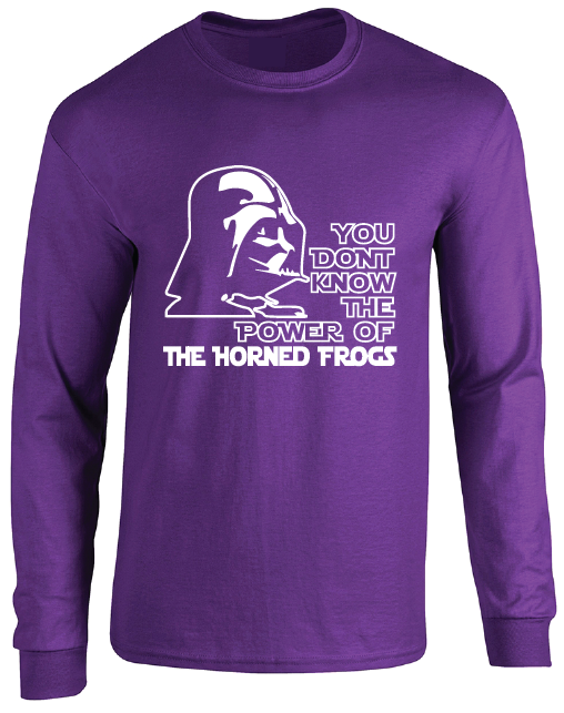 TCU Horned Frogs Darth Vader Star Wars Style Long Sleeve T-Shirt