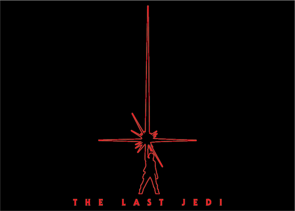 Star Wars Episode VIII The Last Jedi Minimalist Movie Poster T-Shirt