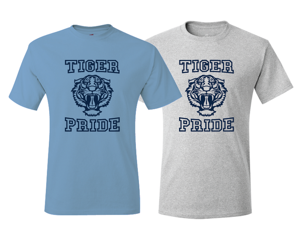 13 Reasons Why Liberty High School Tiger Pride T-Shirt Carolina Blue Or Sport Gray