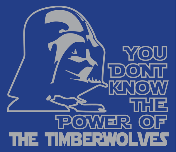 Minnesota Timberwolves Darth Vader Star Wars Style T-Shirt