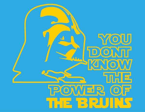 UCLA Bruins Darth Vader Star Wars Style Long Sleeve T-Shirt