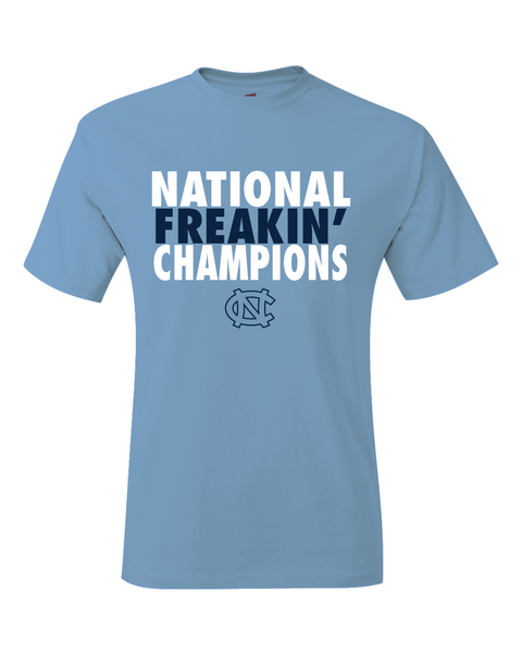 North Carolina Tar Heels 2017 March Madness Final Four National Freakin' Champions T-Shirt