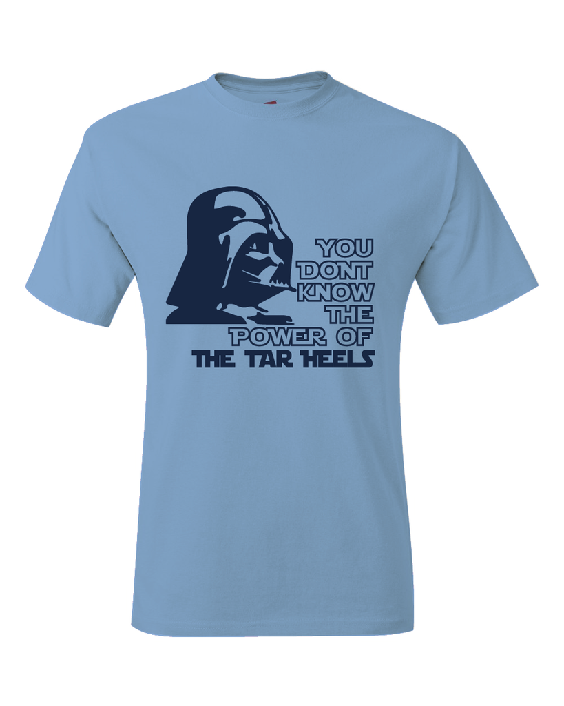 North Carolina Tar Heels Darth Vader Star Wars Style T-Shirt Carolina Blue Sz S-3XL