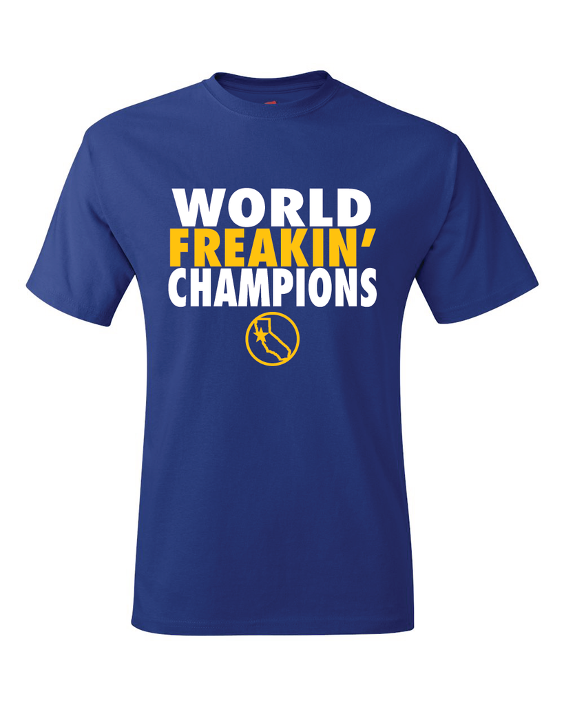Golden State Warriors NBA Finals 2017 World Freakin Champions T-Shirt