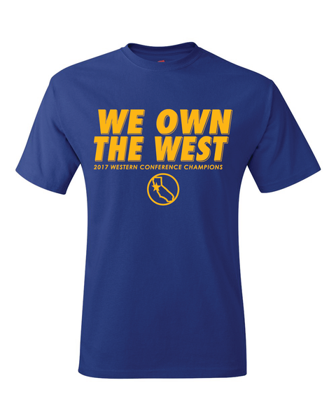 Golden State Warriors 2017 NBA Western Conference Champions T-Shirt