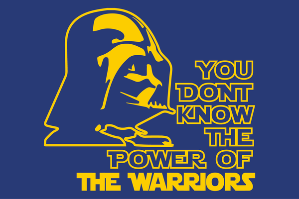 Golden State Warriors Darth Vader Star Wars Style T-Shirt