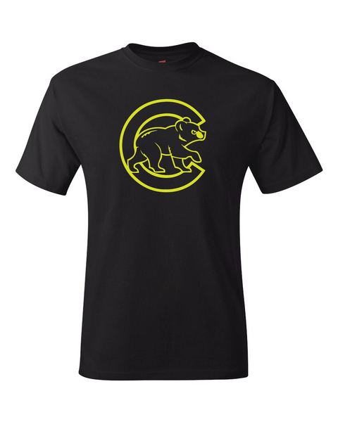 Chicago Cubs Black Performance Dri-Fit Logo Tee