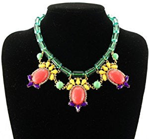Multicolor Bib Fashion Necklace