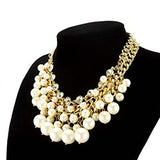 Pearl Statement Fashion Necklace