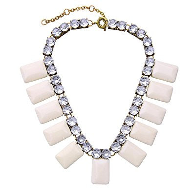 Candy Color Geometry Pendant Crystal Beaded Necklace