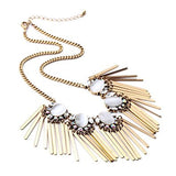 Party Fashion Necklace with Rhinestone and Crystal