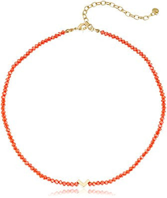 Orange Crystal and Charm Dual Use Choker