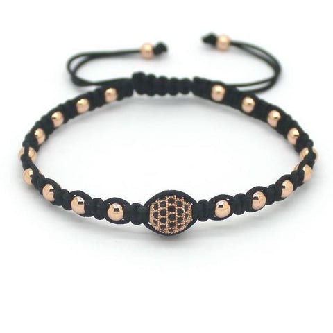 18K Gold Plated Beaded Weaved Unisex Bracelet [4 Variations]