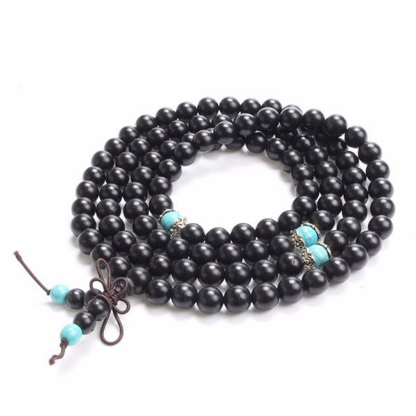 Black Sandalwood Buddhist Wrap Bracelet