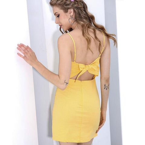 Backless Beach Summer Casual  Sundress