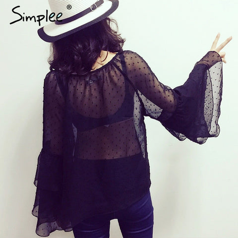 Blouse Shirt Ruffle Lace Up Tops