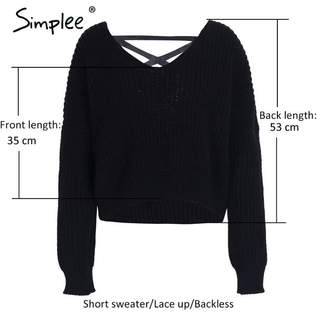 Backless Knitting Pullover Lace Up Winter Sweater Tops Casual Hollow O –  BodyConfetti a941d4448