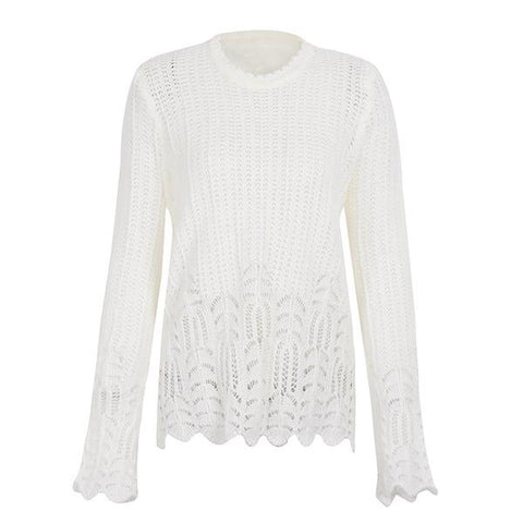 Autumn Casual Knitted Sweater Pullover Loose Tricot Long Sleeve Sweater Jumper