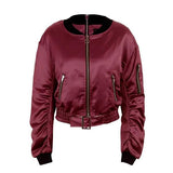 Winter Waist Belt Bomber Jacket Coat