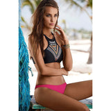 Fashion Women Swimwear Sexy Bikinis Two-Piece Suits - Crystalline
