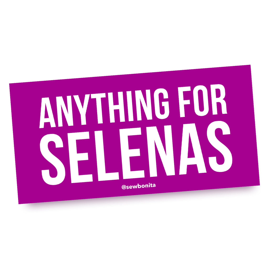 Sew Bonita Anything for Selenas Bumper Car Sticker Purple