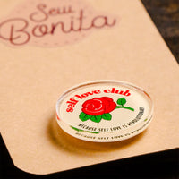 self love club mazapan sew bonita pin