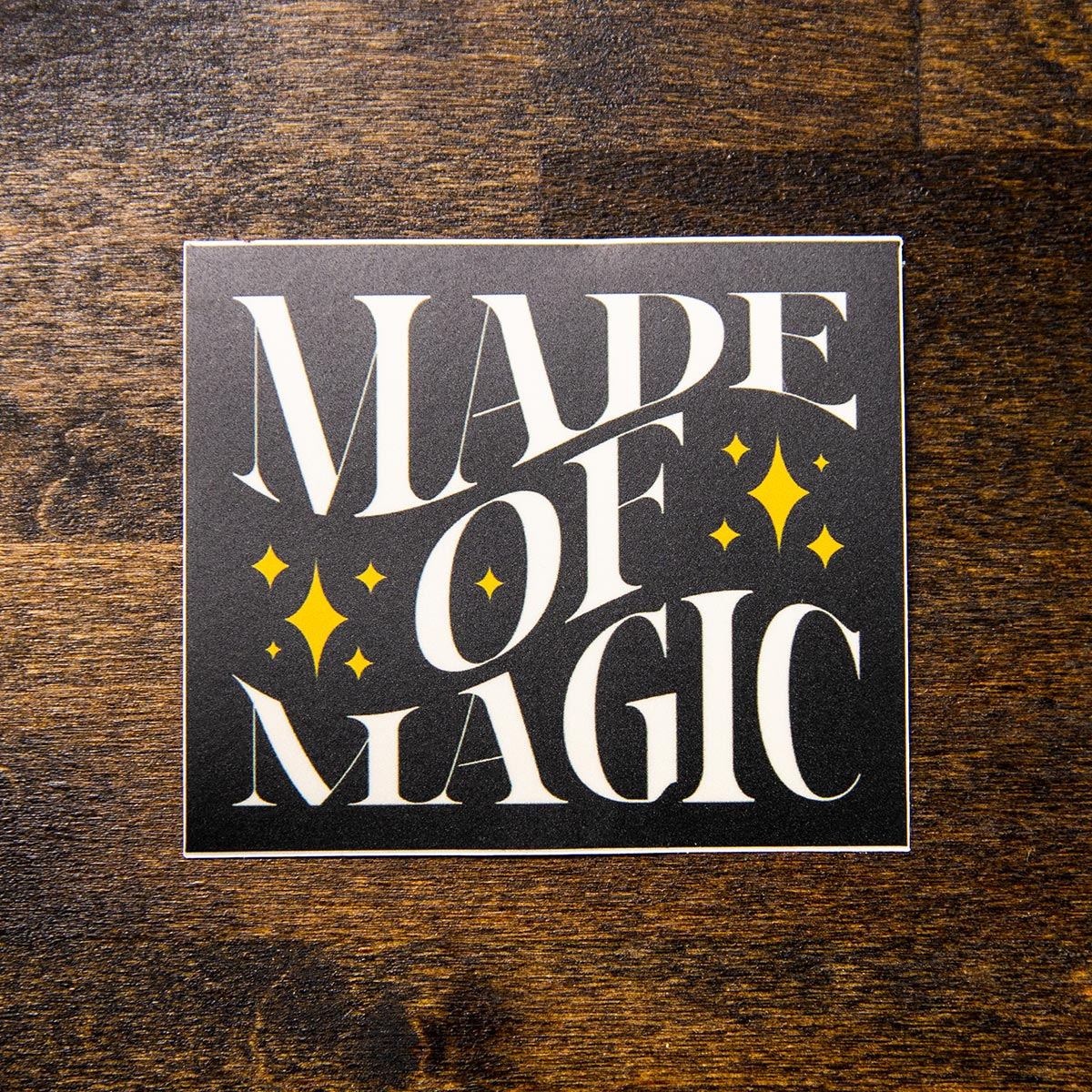 made of magic sew bonita sticker