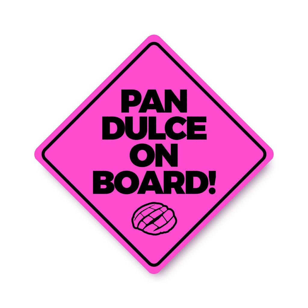 Sew Bonita Pan Dulce on Board Bumper Car Sticker Pink