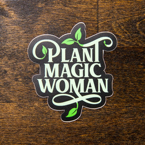 plant magic woman sew bonita sticker
