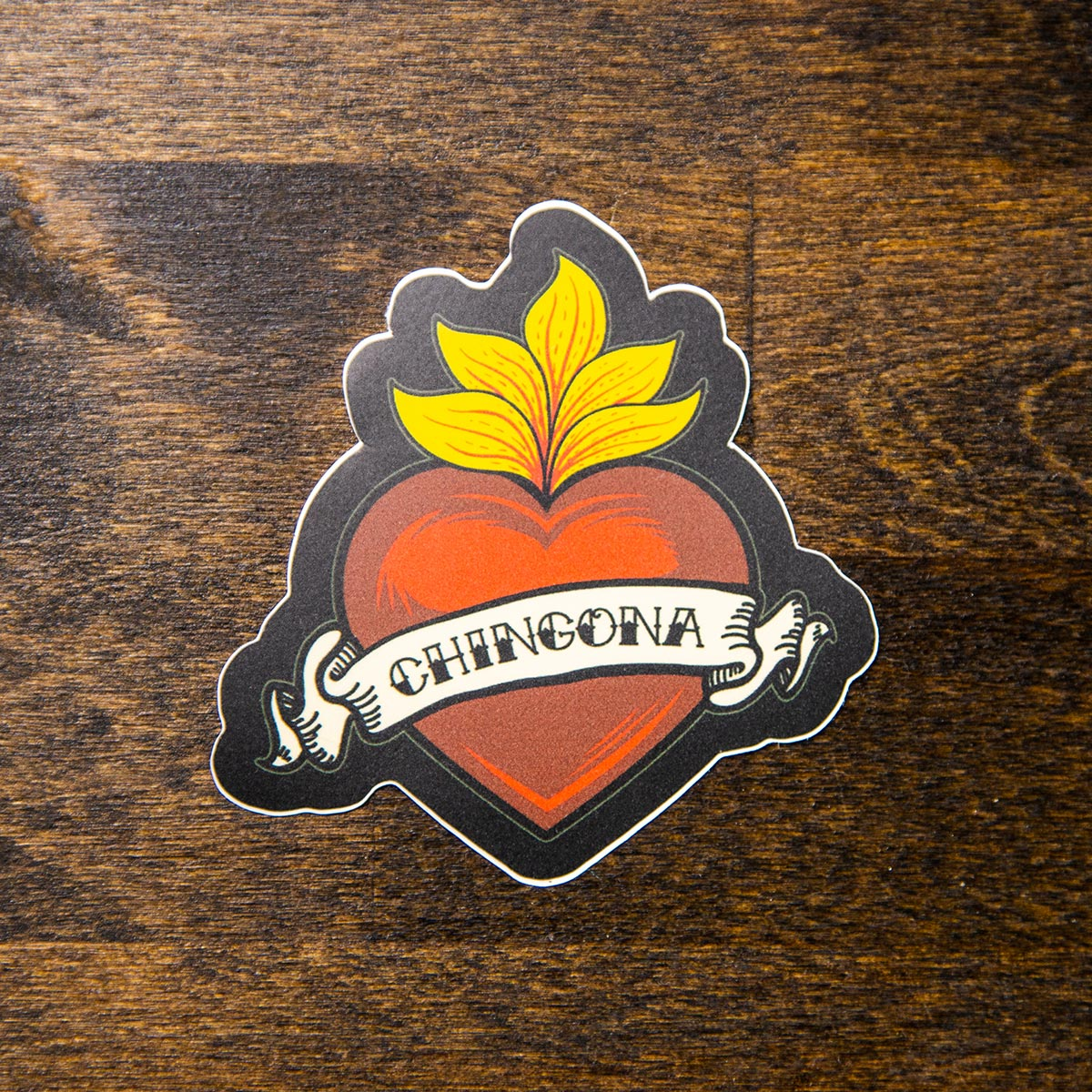 chingona sacred heart sew bonita sticker