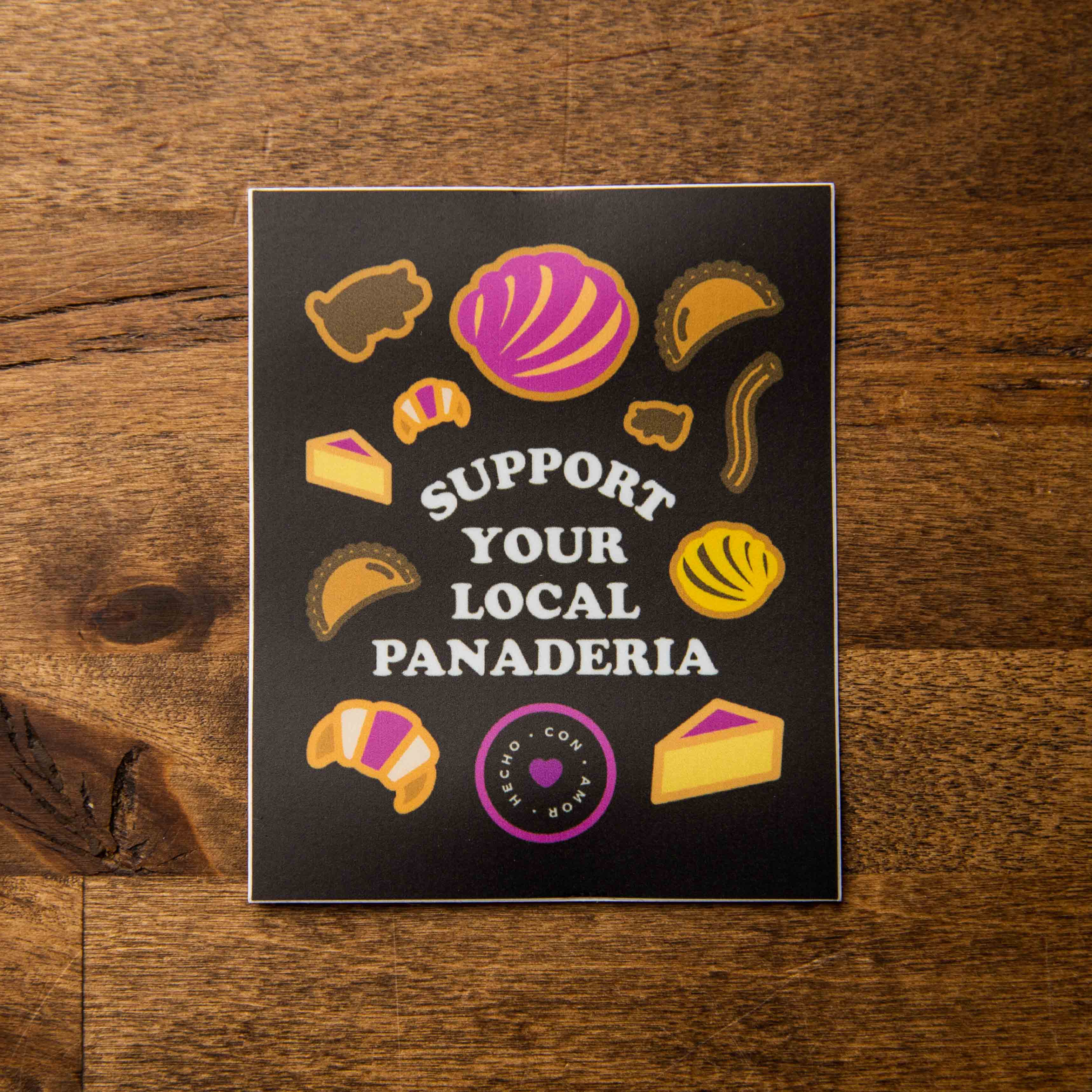 support your local panaderia sticker sew bonita