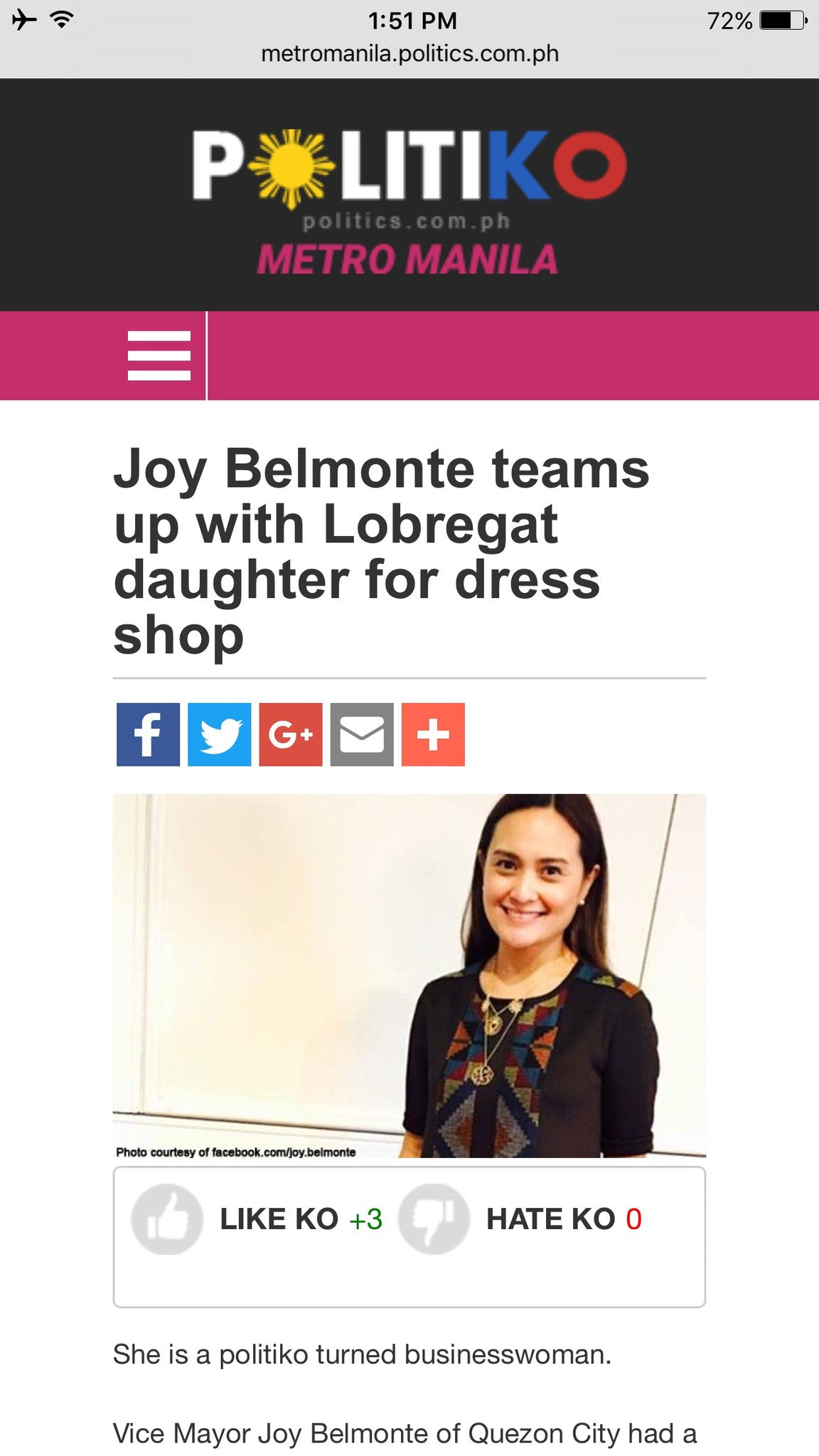 Joy Belmonte Teams Up With Lobregat Daughter For Dress Shop