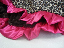 Load image into Gallery viewer, Pink Leopard Cheetah Print Minky Baby Blanket, Baby Girl Blanket