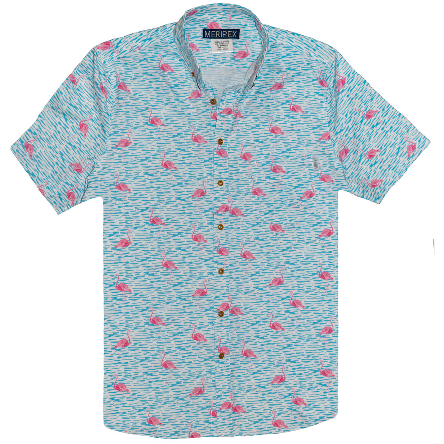 Fancy Flamingo Hawaiian Shirt - Meripex Apparel