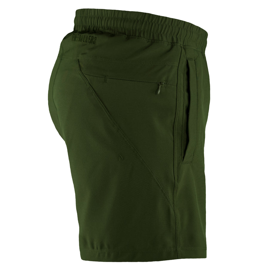 Olive Green Freeballers - Sport Shorts