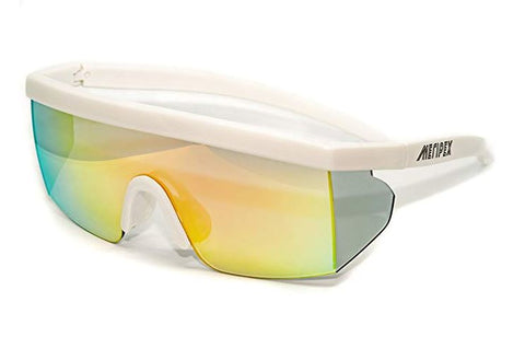Matte White Vintage Mirrored Sunglasses - Meripex Apparel