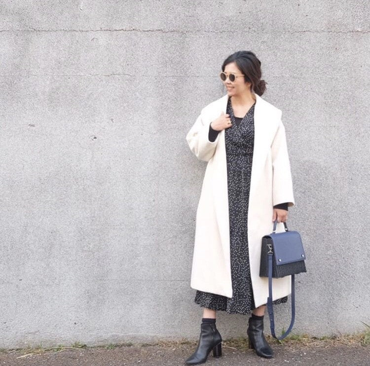 Minimal look with Black LAILA wicker bag