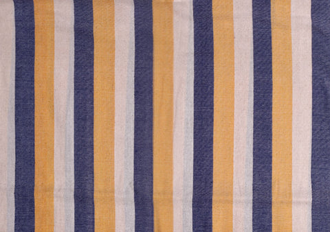 3 Vertical Stripes Indigo dye & White & Jackfruit Peel