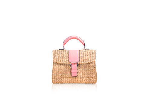 MINI VIPHA WICKER BAG (Pink)