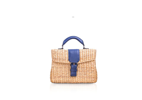 MINI VIPHA WICKER BAG (Navy)